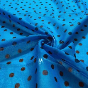 Puantiyeli Tülbent Mavi