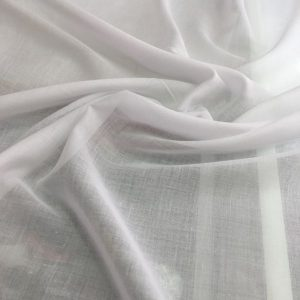 düz pamuklu tülbent Beyaz 2