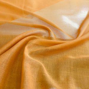 düz pamuklu tülbent hardal sarısı