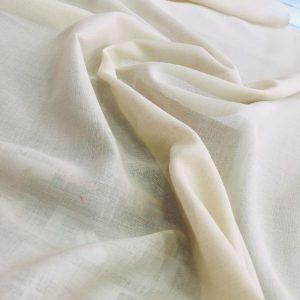 düz pamuklu tülbent kırık beyaz