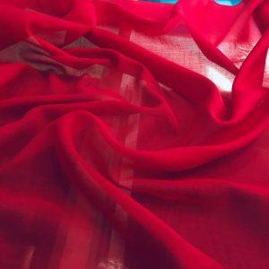 düz pamuklu tülbent koyu kırmızı