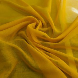 düz pamuklu tülbent sarı