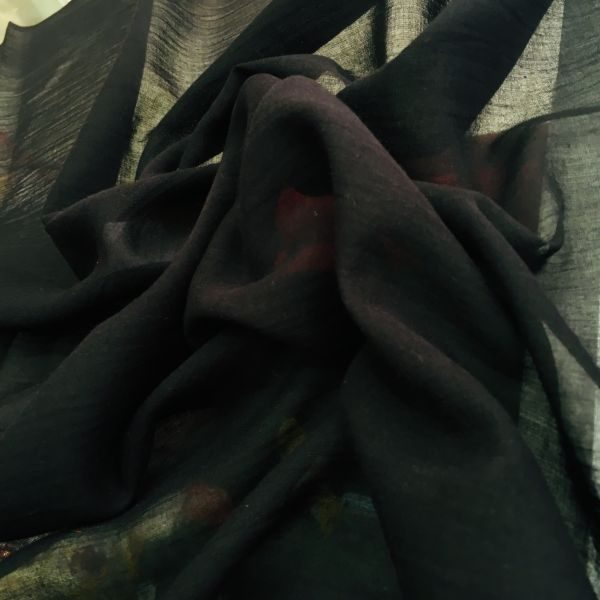 düz pamuklu tülbent siyah 2