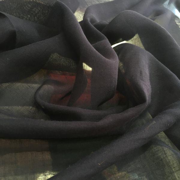 düz pamuklu tülbent siyah