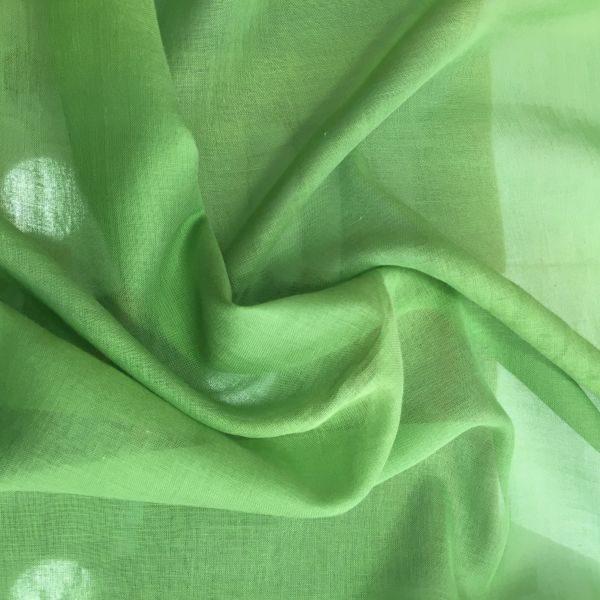 düz pamuklu tülbent su yeşili