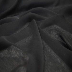 JŞ 2 Janjanlı Şifon Kumaş (2) Janjanlı Şal Siyah