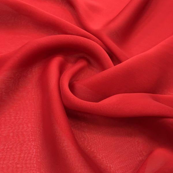 Janjanlı Şifon Kırmızı