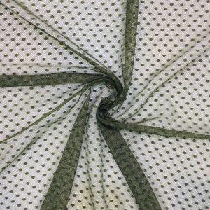 Puantiyeli Tül Askeri Yeşil