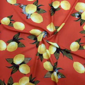 Özel Limon Desenli Jorjet Krep 2