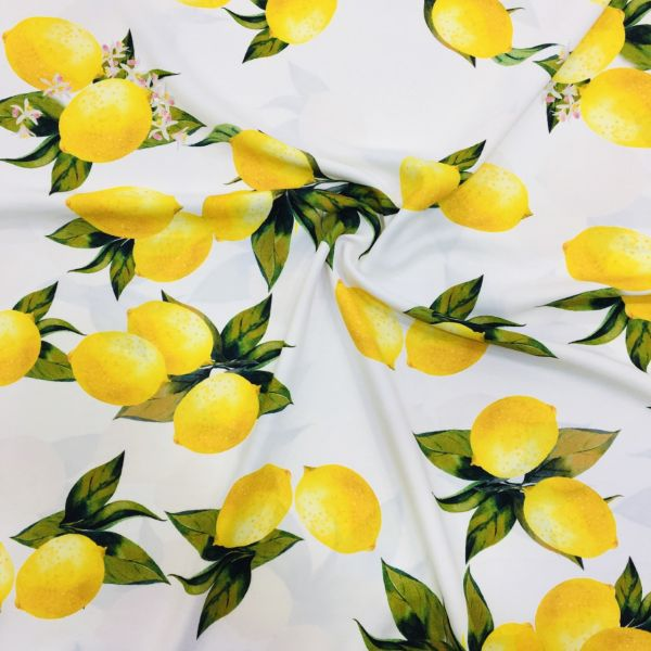 Özel Limon Desenli Jorjet Krep 3