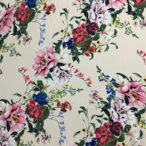 Çiçek Desenli Krep 4