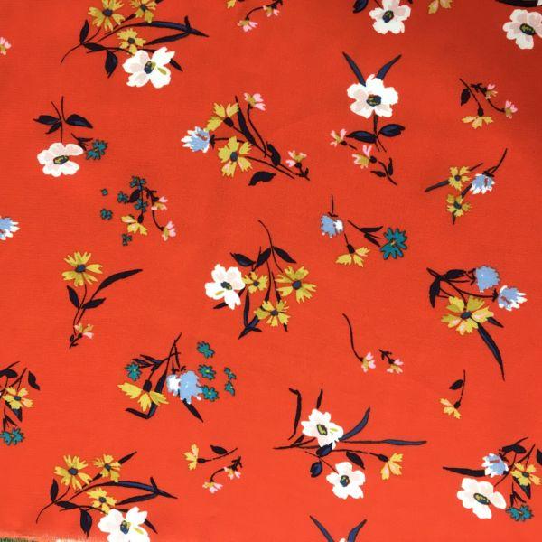 Çıtır Çiçek Desenli Maroken Viskon
