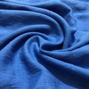 İndigo Mavi Krinkıl Keten