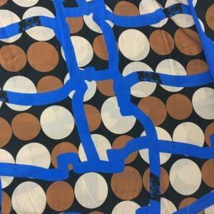 Geometrik Desenli İpek Viskon 4