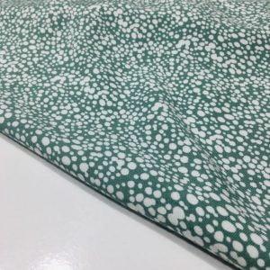 Su Yeşili Çıtır Desenli Viskon