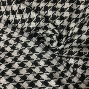 Gri Siyah Kazayağı Kumaş