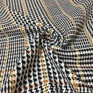Sarı Çizgili Chanel Kumaş