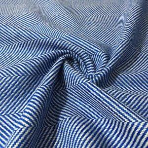 Balıksırtı Desenli Kumaş Mavi
