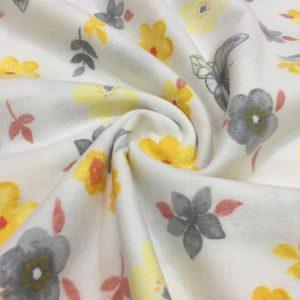 Çiften Çıtır Çiçek Desenli Pazen Sarı AYT