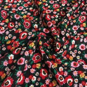 Çıtır Çiçek Desenli Triko YGT