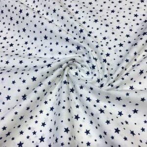 Yıldız Desenli Poplin Beyaz AYT