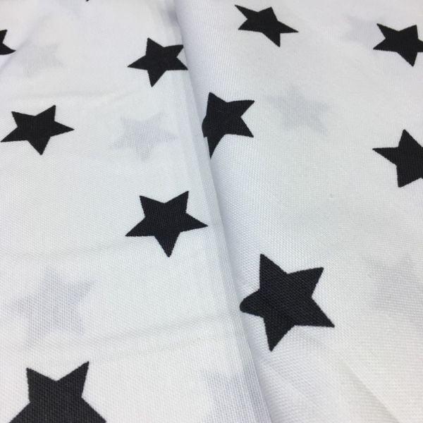 Yıldız Desenli Duck Keten Beyaz AYT