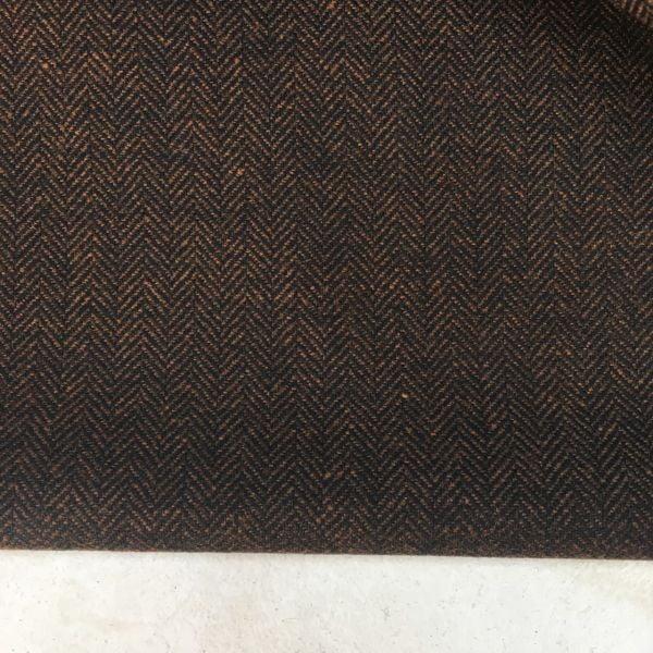 Koyu Kahve Altınyıldız Balıksırtı Flanel Kumaş
