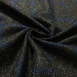Lacivert Siyah Ekoseli Flanel Kumaş