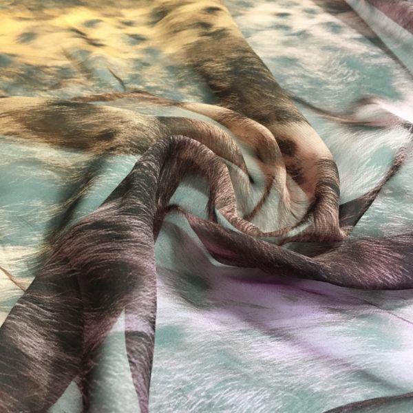 İpeksi Leopar Şifon Kumaş