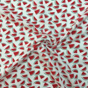 Karpuz Desenli Poplin Kumaş