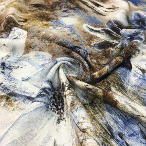 Pastel Desenli Viskon Kumaş MRY