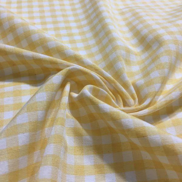 Sarı Pötikare Terikoton Kumaş