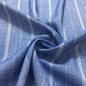 Çizgili Tensel Kot Kumaş Mavi.