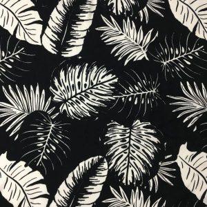 Siyah Beyaz Palmiyeli Viskon