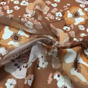 Sonbahar Desenli Şifon Kumaş