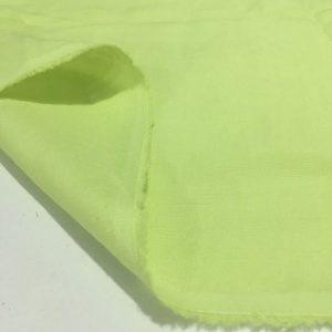 Neon Yeşili Ham Keten Kumaş