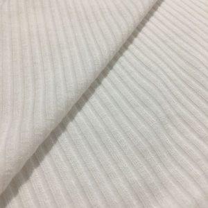 Fitilli İnce Triko Kumaş Beyaz