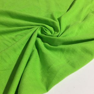 Neon Yeşili Süprem Penye Kumaş