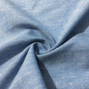 Soft Mavi Pamuk Keten Kumaş