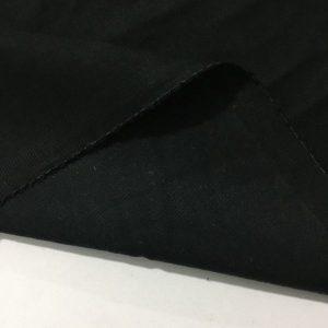 Taşlanmış Koton Kumaş Siyah