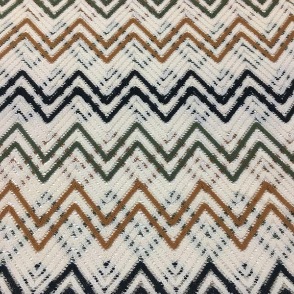 Hardal Yeşil Missoni Desenli Kumaş