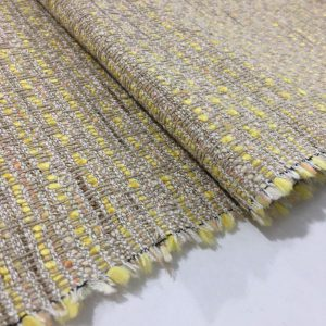 Sarı Bej Şanel Kumaş